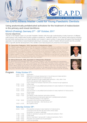 1st EAPD Athena Master Class for Young Paediatric Dentists